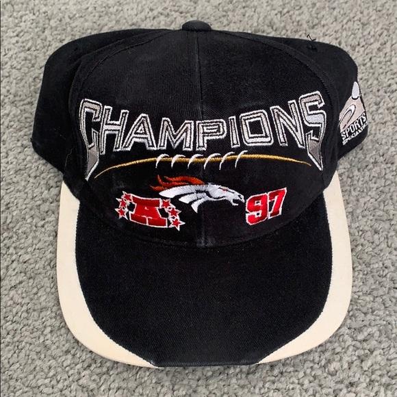 d9dc605dae9 Denver Broncos 1997 AFC championship hat. NFL. M 5c27a18e9539f74a9fb05ce3.  M 5c27a1984ab633a6a571c8dc